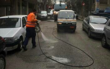 Κυριακάτικες δράσεις καθαριότητας του Δήμου Αθηναίων στα Πατήσια