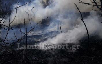 Καίγεται ποιμνιοστάσιο στα Καμένα Βούρλα