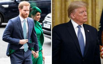 Ο πρίγκιπας Χάρι έπεσε θύμα φαρσέρ και πέταξε τα «βέλη» του στον Τραμπ