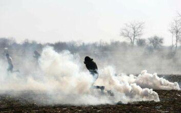Νέα επεισόδια στις Καστανιές Έβρου μεταξύ αστυνομικών και μεταναστών