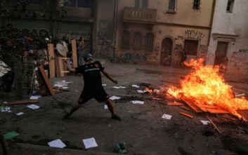 Σφοδρές συγκρούσεις αστυνομίας με φτωχούς διαδηλωτές στη Χιλή