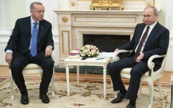 Ανατολική Μεσόγειος και Ελλάδα στις συνομιλίες Πούτιν με Ερντογάν - Τι λέει η τουρκική προεδρία