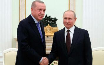Μόσχα: Ξεκίνησε η συνάντηση Πούτιν-Ερντογάν για την Ιντλίμπ της Συρίας