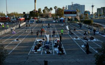 Αντιδράσεις στο Λας Βέγκας, έκλεισε καταφύγιο λόγω κορονοϊού κι έβαλαν τους άστεγους σε πάρκινγκ