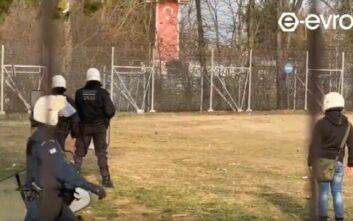 Έβρος: Τραυματίστηκε αστυνομικός κατά τη διάρκεια επεισοδίων με μετανάστες