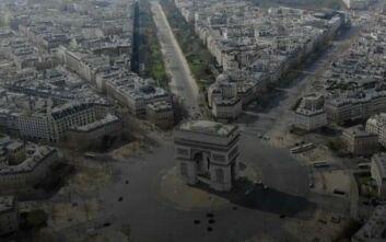 Κορονοϊός: Συγκλονιστικές εικόνες από drone αποκαλύπτουν ότι το Παρίσι έγινε πόλη-φάντασμα