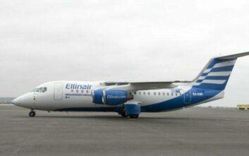 Τμηματική αναστολή πτήσεων από την Ellinair