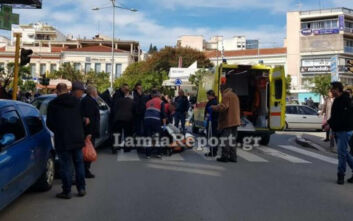 Γυναίκα έπεσε σε διάβαση στο κέντρο της Λαμίας