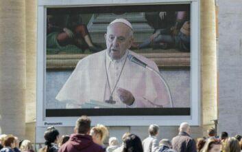 Κορονοϊός: Ο Πάπας Φραγκίσκος εκφώνησε το μήνυμα της Κυριακής μέσω Ιντερνετ