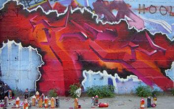 Το εντυπωσιακό γκράφιτι για τον κορονοϊό στους τοίχους γηπέδου της Καλαμαριάς