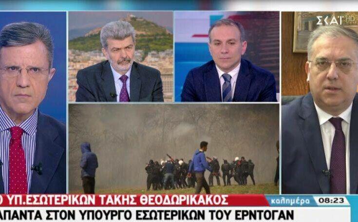 Θεοδωρικάκος: Δεν υπάρχει κανένα περιθώριο να περάσει κανείς από τον Έβρο