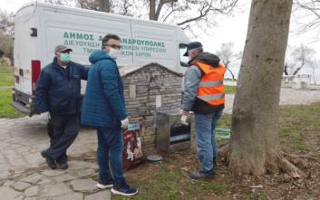 Αλεξανδρούπολη: Τοποθετήθηκαν ταΐστρες για τη σίτιση των αδέσποτων ζώων