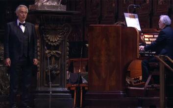 Κατέρριψε κάθε ρεκόρ στο YouTube η συναυλία του Αντρέα Μποτσέλι στον άδειο καθεδρικό του Μιλάνου