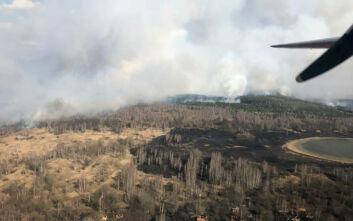 Φωτιά στο Τσέρνομπιλ: Παραμένει η ανησυχία - Μέχρι στιγμής έχουν καεί 350 στρέμματα