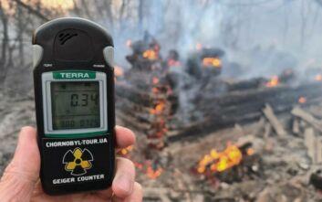 «H πυρκαγιά που μαίνεται κοντά στο Τσερνόμπιλ προκαλεί κίνδυνο ραδιενεργού ακτινοβολίας»