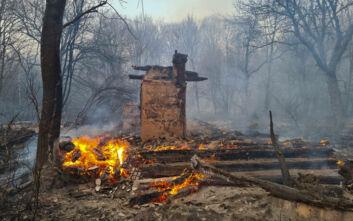 Σκηνές αποκάλυψης από τη φωτιά στο Τσέρνομπιλ