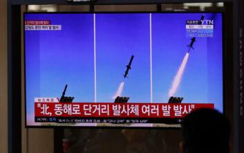 «Η Βόρεια Κορέα εκτόξευσε πολλούς μικρού βεληνεκούς πυραύλους κρουζ»