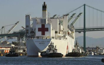 Ο κορονοϊός «χτύπησε» και το ιατρονοσηλευτικό προσωπικό του USNS Mercy