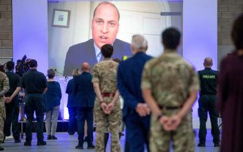 Ο πρίγκιπας Ουίλιαμ εγκαινίασε ένα νέο νοσοκομείο για ασθενείς με κορονοϊό