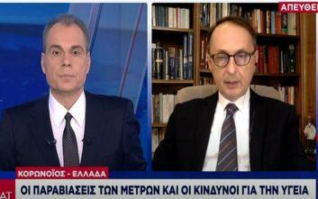 Καθηγητής Σύψας στον ΣΚΑΪ: «Αρκεί ένα 5% ή 10% των πολιτών να μην πειθαρχήσει στα μέτρα και θα μας βάλει αυτογκόλ»