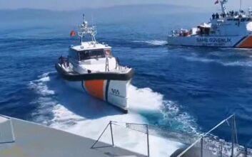 Τουρκικές ακταιωροί επιχείρησαν να προωθήσουν λέμβο με αλλοδαπούς στα ελληνικά χωρικά ύδατα - Εμποδίστηκαν από το λιμενικό