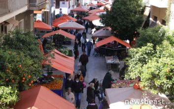 Αυτή είναι η σημερινή εικόνα από λαϊκή αγορά στα Κάτω Πατήσια