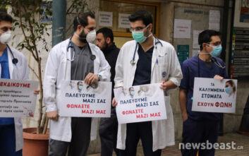 Κινητοποίηση γιατρών και νοσηλευτικού προσωπικού στον Ευαγγελισμό για ενίσχυση της Υγείας