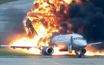 Βίντεο σοκ από την αεροπορική τραγωδία της Μόσχας το 2019 - Το αεροσκάφος εκκενώνεται ενώ φλέγεται