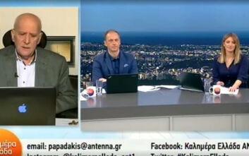 Ο εκνευρισμός του Γιώργου Παπαδάκη στο τέλος της εκπομπής: Είσαι μυαλοφυγόδικος
