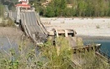 Κατέρρευσε γέφυρα σε αυτοκινητόδρομο της Ιταλίας - Αποφεύχθηκε η τραγωδία λόγω... κορονοϊού