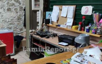 Κάμερα ασφαλείας «τσάκωσε» κλέφτη στη Λαμία