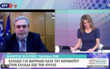 Πρόεδρος ΕΟΦ για ρεμντεσιβίρη: Ήδη χορηγείται σε τέσσερα νοσοκομεία στην Ελλάδα