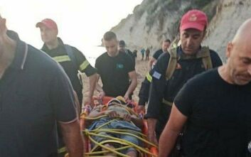 Τραυματισμένος μεταφέρθηκε στο Γενικό Νοσοκομείο Κέρκυρας, ο «δράκος της Κέρκυρας»