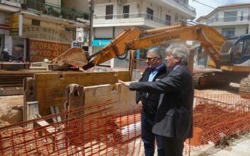 Ξεκίνησε ξανά το σημαντικό αντιπλημμυρικό έργο στο Κορωπί