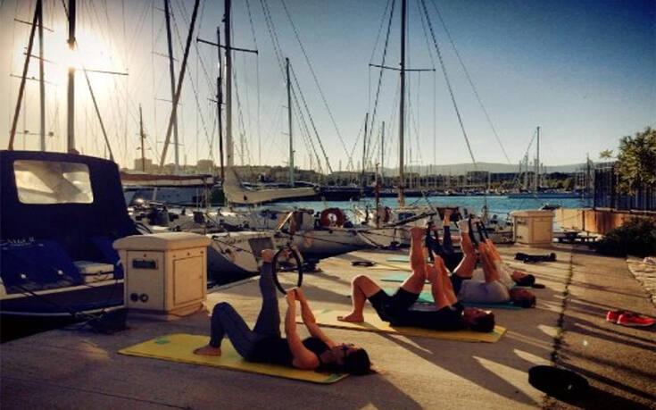Υπαίθρια γυμναστική για τους ιστιοπλόους των εθνικών ομάδων λόγω κορονοϊού