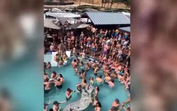 Έντονες αντιδράσεις για το βίντεο από πάρτι σε πισίνα στο Μιζούρι εν μέσω κορονοϊού