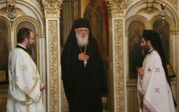 Στο παρεκκλήσι του Αγίου Ανδρέα ο Αρχιεπίσκοπος Ιερώνυμος