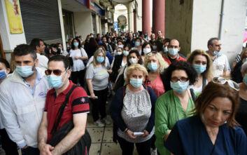 Με μάσκες η συγκέντρωση της ΠΟΕΔΗΝ στη Θεσσαλονίκη