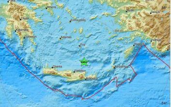 Σεισμός στη θαλάσσια περιοχή της Σαντορίνης