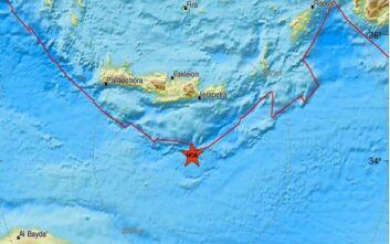 Σεισμός τώρα νότια της Κρήτης