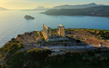 Ο επιβλητικός Ναός του Ποσειδώνα στο Σούνιο