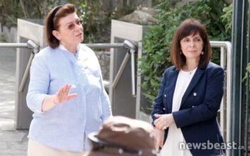 Στην Ακρόπολη μετά την άρση των περιοριστικών μέτρων η Κατερίνα Σακελλαροπούλου