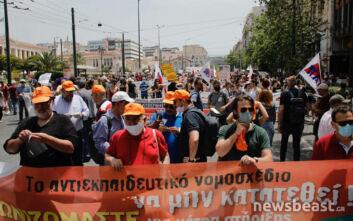 Στους δρόμους πάλι οι εκπαιδευτικοί για το πολυνομοσχέδιο και τις κάμερες