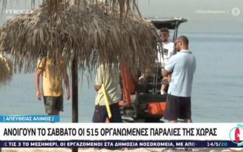 Ο Άλιμος ετοιμάζεται να δεχτεί τους πρώτους λουόμενους - Το Σάββατο ανοίγουν οι παραλίες