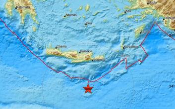 Σεισμός τώρα ανοιχτά της Κρήτης