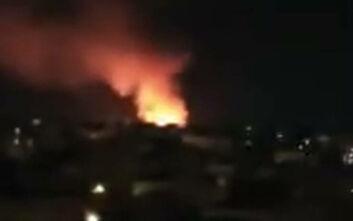 Μεγάλη φωτιά στον Εύοσμο Θεσσαλονίκης: Κάηκαν περίπου 5 στρέμματα