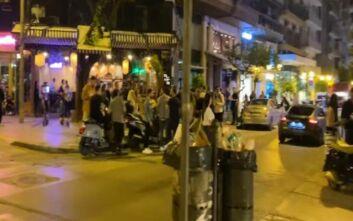Δεύτερη νύχτα συνωστισμού για ένα ποτό στη Θεσσαλονίκη - Νέα επέμβαση της Αστυνομίας