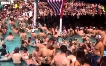Ποια τήρηση αποστάσεων: Συνωστισμός και ξέφρενο πάρτι σε πισίνα στο Μιζούρι των ΗΠΑ
