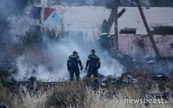 Οι πρώτες εικόνες από τη φωτιά στην Αγία Βαρβάρα