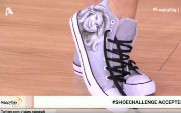 Σταματίνα Τσιμτσιλή: Φόρεσε σε παπούτσια την Κατερίνα Καραβάτου και τον Κρατερό Κατσούλη